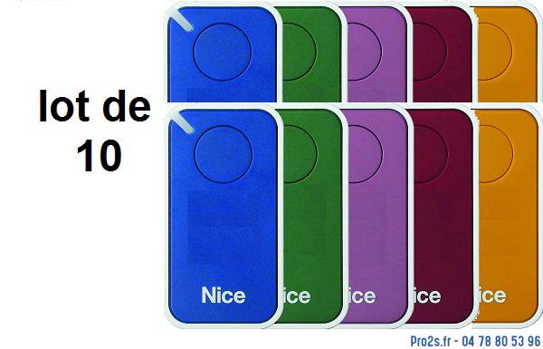 telecommande 10x-nice inti 1 multicolors interieur