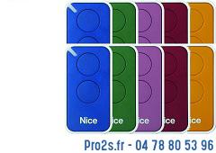 telecommande 10x-nice inti 2 multicolors face