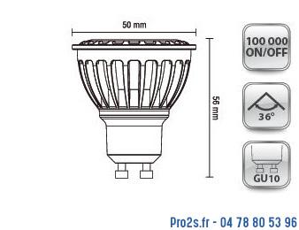 telecommande 10x led gu10 6,5W 3K 230v interieur