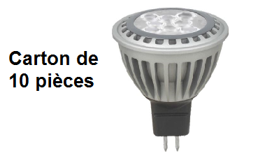 telecommande 10x led mr16 8w 3k 12v face