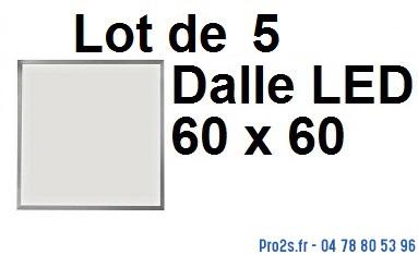 telecommande 5x led dalle 60x60 face
