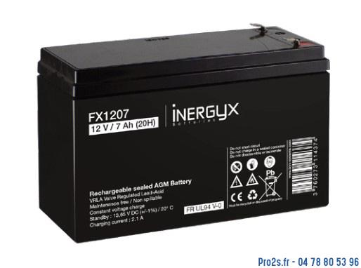 telecommande batterie 12v 7-2a face