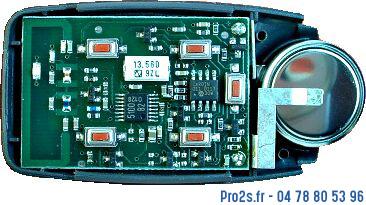 telecommande cardin s449 4 grise cote