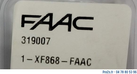 telecommande faac r-xf868 319007 cote
