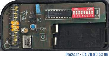 telecommande faac t40 2 interieur