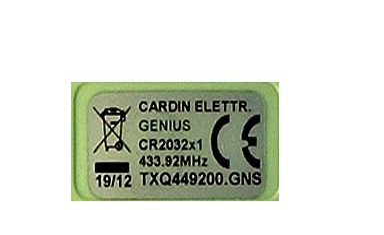 telecommande genius txq449200-gns interieur