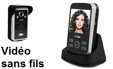 telecommande interph video s-fils kit face