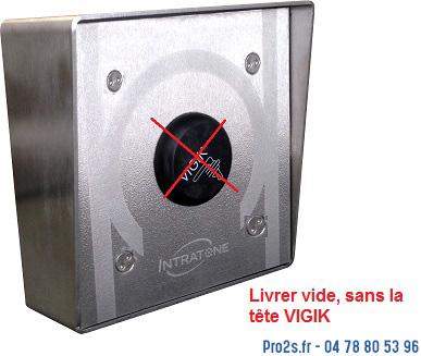 telecommande intratone boitier-vigik-inox saillie interieur