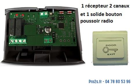 telecommande kit b-poussoir face