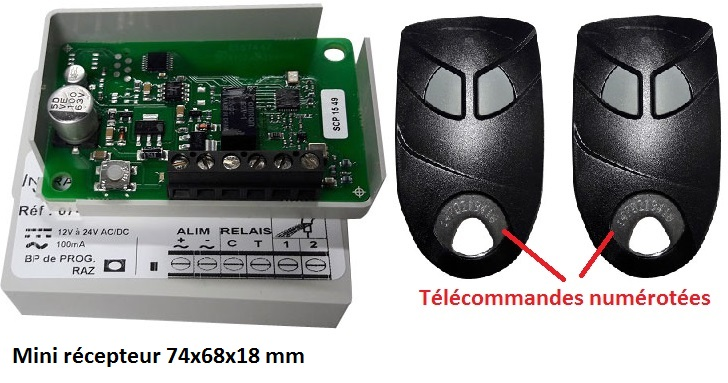telecommande kit securise eco face