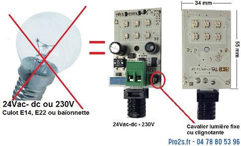 telecommande lampe-cligno 24 230v interieur