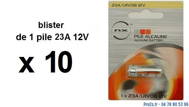 telecommande pile boite 10x 23a-12v face