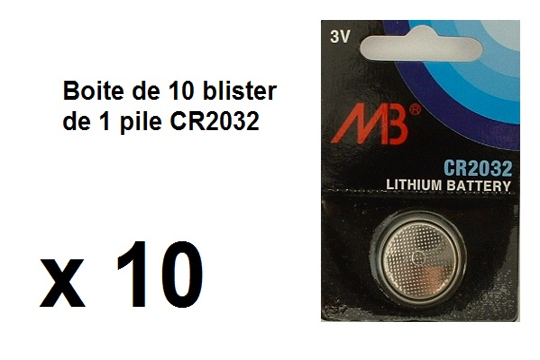 telecommande pile boite 10x cr2032 face