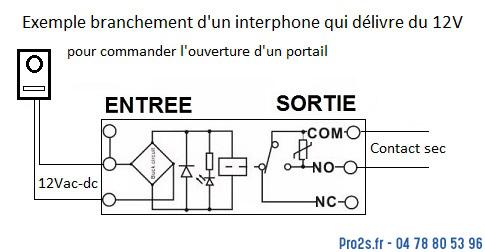 telecommande relais interface 12v interieur