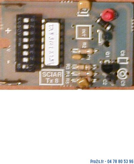 telecommande sciar tx8 interieur