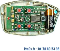 telecommande siminor s433 interieur