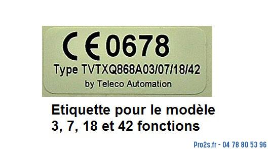 telecommande teleco tvtxq868a18 interieur