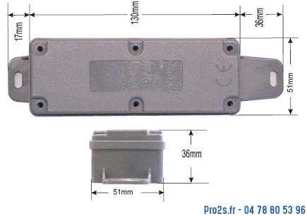 telecommande wirlessband10 kit-002172 cote